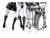 Nylon Legs IV Limited Signed and Numbered Giclee Pin Up Art Print Lea2NylonLegs8.5X11 Luster Ray Leaning