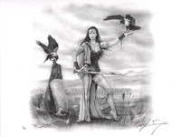 Morrigan Limited Signed and Numbered Giclee Pin Up Art Print Ray Leaning