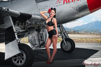 Malak Wings of Angels Jenn Red Rose Rox WWII P-51D Mustang