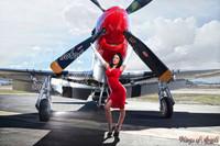 Malak Wings of Angels Jenn Red Dress WWII P-51D Mustang