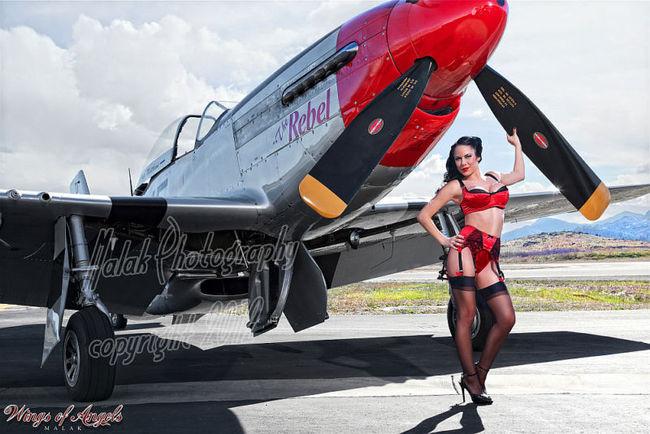 Malak Wings of Angels Jen Rox The Rebel V WWII P-51D Mustang
