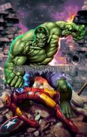 Hulk Smash Print 11X17 Carlos Valenzuela