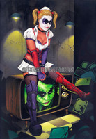 Dave Nestler Anything Good on TV Harley Quinn Signed Print