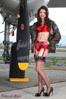 Michael Malak Wings of Angels Print Sarah Barton at the Prop WWII B-25J Mitchell
