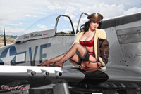 Wings of Angels Malak Pin Up Jenn Rox Red Wing WWII P-51D Mustang