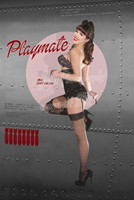 WWII Cheesecake Pin Up Girl Michael Malak Giclee Print < Playmate > Print 11X17