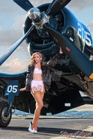 Wings of Angels Malak Pin Up Print Ashten at the Prop Vintage WWII F4U-4 Corsair