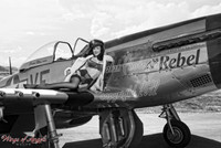 "Wings of Angels Malak Pin Up Jen Rox ""The Rebel"" WWII P-51D Mustang"