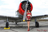 Wings of Angels Michael Malak Red Hot Claire Sinclair Pin Up WWII BT-13B Valiant
