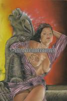 Resting Gargoyle Signed Art Print Victor Garduno