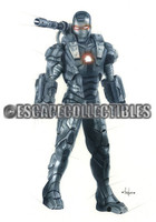 War Machine Iron Man Signed Print Pearl Metallic Victor Garduno