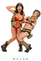 WWII Army Cheesecake Sexy Girls & Grenades II Pin Up Michael Malak Giclee Print