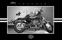 Michael Malak Claire Sinclair Harley Davidson Motorcycle Print 3
