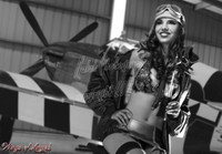 Wings of Angels Michael Malak Sarah Flight Jacket Lingerie and a WWII Mustang