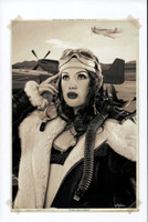 "WWII Pin Up Series Michael Malak Giclee Eyes Like a Hawk Jessamyne Rose 11""X17"""