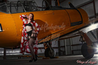 Wings of Angels Michael Malak Pin Up Judy Luck in Lingerie WWII SNJ-5 Texan