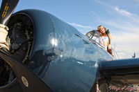Wings of Angels Michael Malak Pin Up Kacie in the Cockpit WWII F4F Wildcat