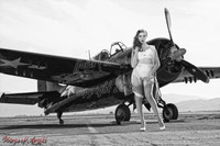 Wings of Angels Michael Malak Kacie in Parachute WWII F4F Wildcat