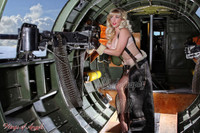Wings of Angels Michael Malak Pin Up Caitlin at Guns WWII B-17G Flying Fortress