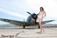 Wings of Angels Michael Malak Giclee Pin Up Nina WWII SBD-4 Dauntless