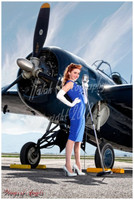 Wings of Angels Michael Malak Print 2 Kacie Marie Microphone & WWII F4F Wildcat