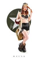 WWII Nose Art Michael Malak Cheesecake Pin Up Giclee Jess with Chute Print 11X17