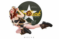 WWII Nose Art Malak Cheesecake Pin Up Jess Flying Warhawk Print