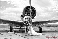 Wings of Angels Michael Malak Pin Up Print of Claire Sinclair and the WWII BT-138 Valiant