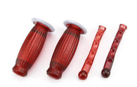 22mm Biemme Superflex Grips and Lever Covers-Red