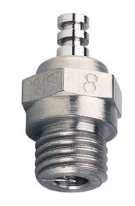 O.S. 8 Glow Plug Standard Long Medium Hot