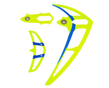 04648 Fin set neon yellow Mikado Logo 550/600/690