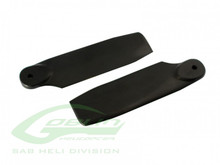 SAB Black Plastic Tail Blade 50mm Goblin 280 H0828-S