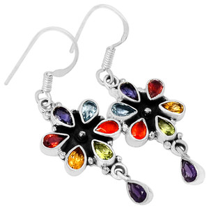 Healing Chakra 925 Sterling Silver Earrings Jewelry CP211
