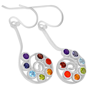 Spiral of Life Chakra 925 Sterling Silver Earrings Jewelry CP102