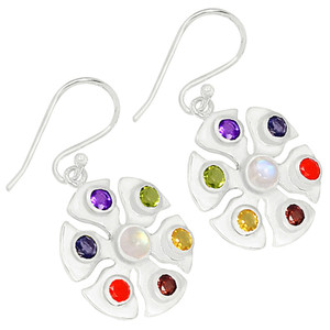 Healing Chakra 925 Sterling Silver Earrings Jewelry CP208