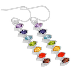 Eyes Chakra 925 Sterling Silver Earrings Jewelry CP146