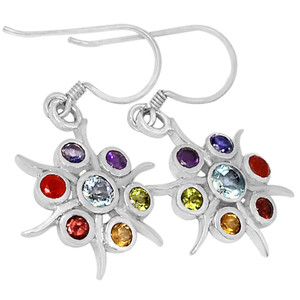 Astarte Star Chakra 925 Sterling Silver Earrings Jewelry CP175