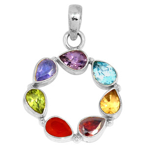 Healing Chakra 925 Sterling Silver Pendant Jewelry CP113