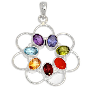 Healing Chakra 925 Sterling Silver Pendant Jewelry CP115