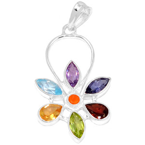 Healing Chakra 925 Sterling Silver Pendant Jewelry CP118