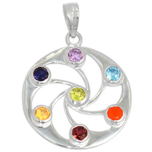 Cosmic Circle Chakra 925 Sterling Silver Pendant Jewelry CP185