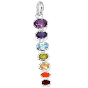 Healing Chakra 925 Sterling Silver Pendant Jewelry CP125