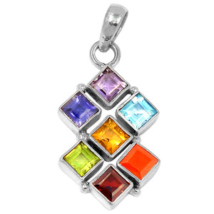 Healing Chakra 925 Sterling Silver Pendant Jewelry CP126