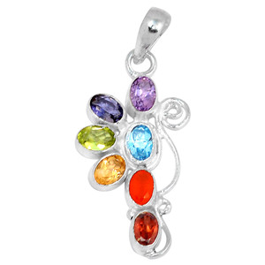 Healing Chakra 925 Sterling Silver Pendant Jewelry CP128