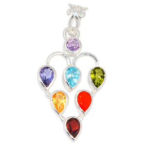 Healing Chakra 925 Sterling Silver Pendant Jewelry CP131