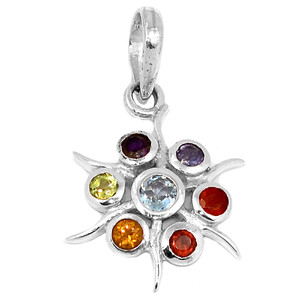 Astarte Star Chakra 925 Sterling Silver Pendant Jewelry CP169