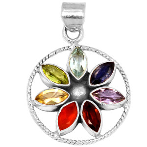 Healing Chakra 925 Sterling Silver Pendant Jewelry CP201