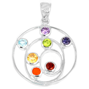 Healing Chakra 925 Sterling Silver Pendant Jewelry CP148