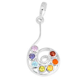 Spiral of Life Chakra 925 Sterling Silver Pendant Jewelry CP154