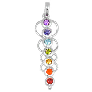 Caduceus Chakra 925 Sterling Silver Pendant Jewelry CP155
